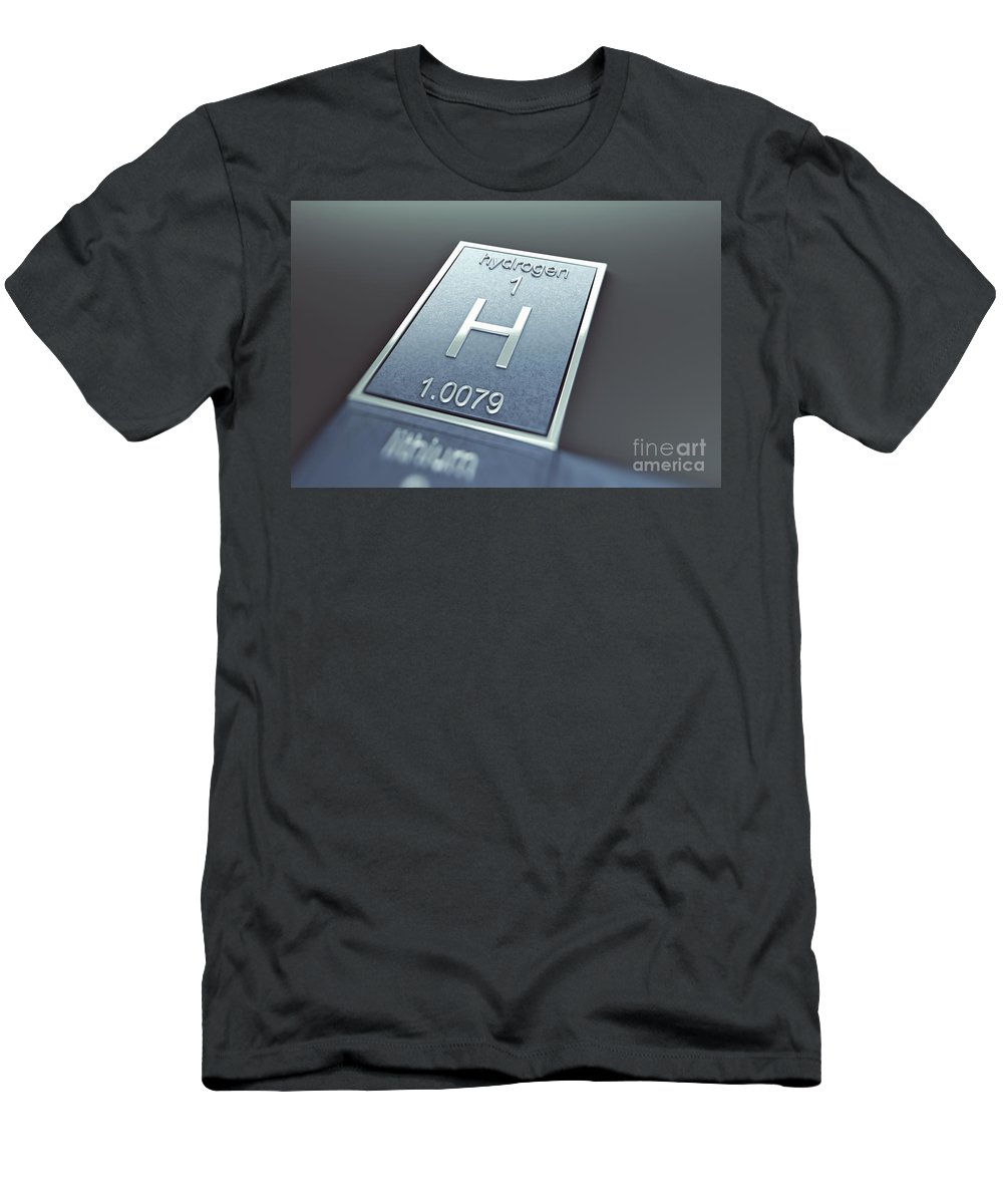 Atomic Number Men's T-Shirt (Athletic Fit) featuring the photograph Hydrogen Chemical Element by Science Picture Co