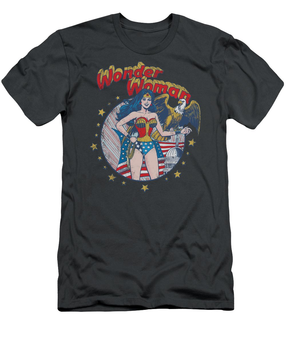 T-Shirt featuring the digital art Jla - At Your Service by Brand A