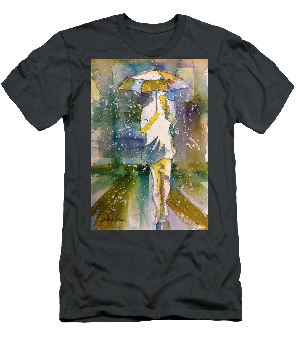 Jo Malone Men's T-Shirt (Athletic Fit) featuring the painting Jo Malone 3 by Debbie Lewis