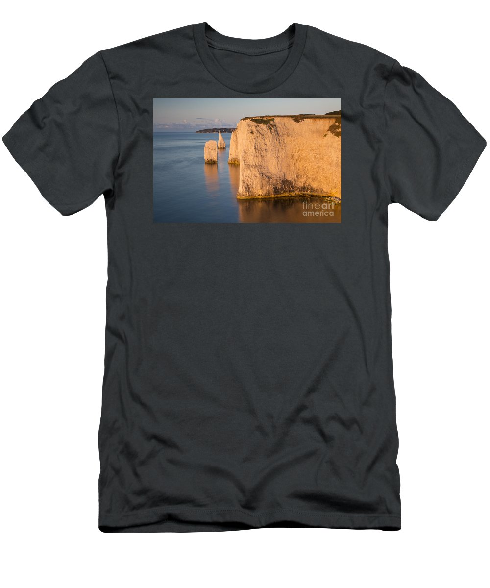 Beach Men's T-Shirt (Athletic Fit) featuring the photograph Jurassic Coast Dawn by Brian Jannsen