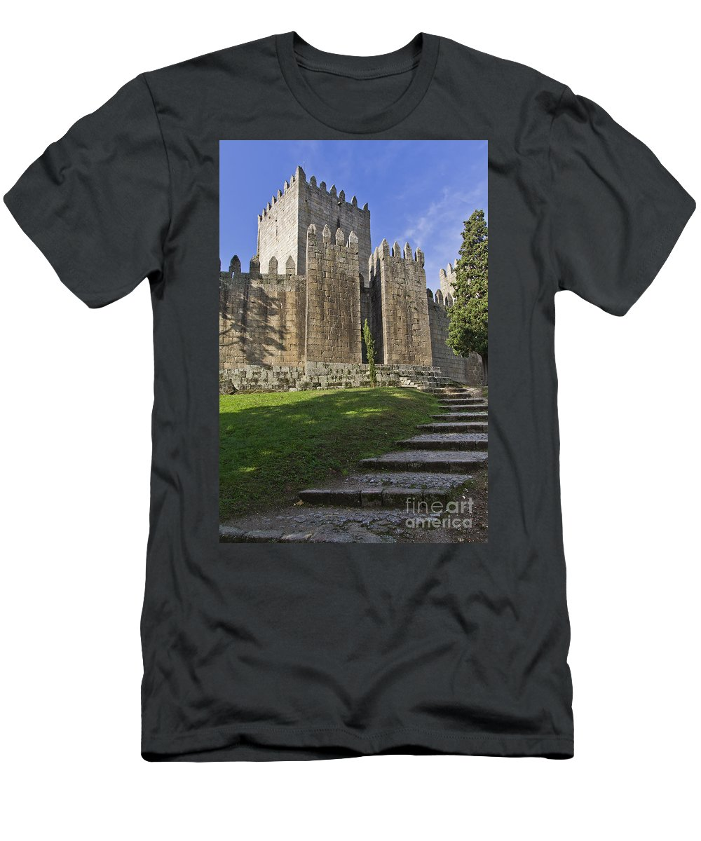Medieval Men's T-Shirt (Athletic Fit) featuring the photograph Medieval Castle Keep by Jose Elias - Sofia Pereira