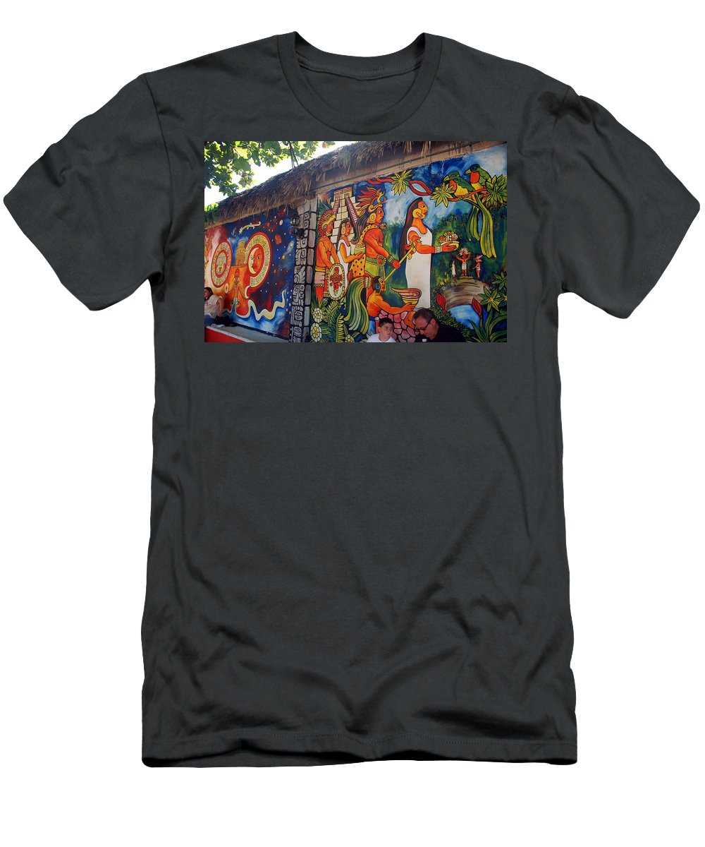 Cancun Men's T-Shirt (Athletic Fit) featuring the photograph Mexican Wall Art by Jon Berghoff