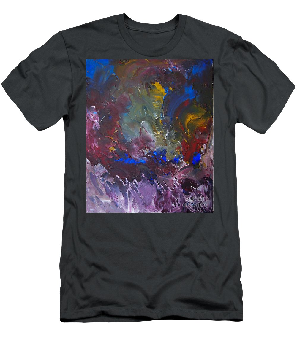 Expressionism Esoteric Men's T-Shirt (Athletic Fit) featuring the painting Midnight Ride by Goran Nilsson