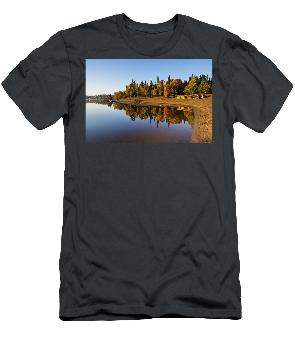 Laurentian Men's T-Shirt (Athletic Fit) featuring the photograph Mont-tremblant National Park by Mircea Costina Photography