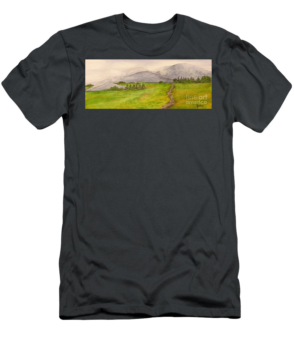 Paintings T-Shirt featuring the painting Morning Fog by Regan J Smith