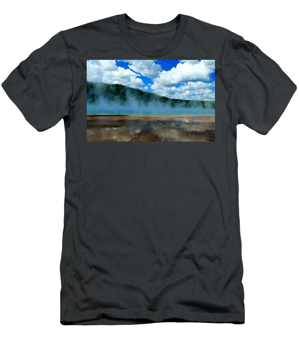 Yellowstone National Park Men's T-Shirt (Athletic Fit) featuring the photograph Nature's Beauty by Catie Canetti