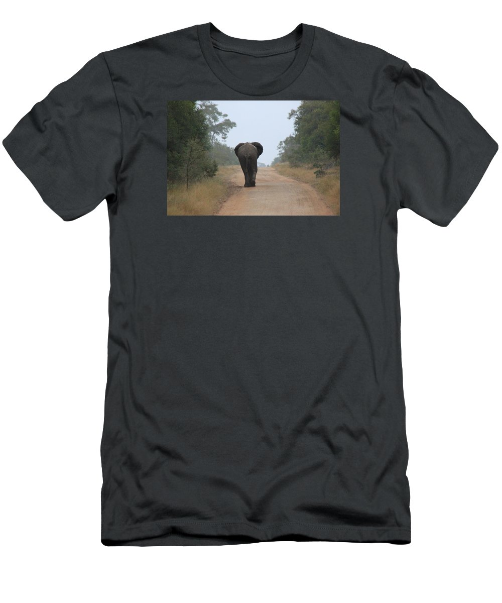 Wildlife Men's T-Shirt (Athletic Fit) featuring the photograph On My Way by John Stuart Webbstock
