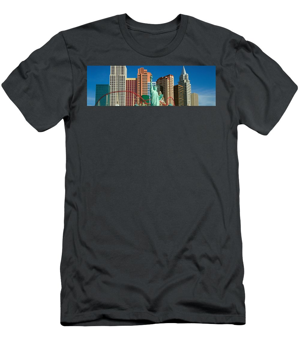 Photography Men's T-Shirt (Athletic Fit) featuring the photograph Panoramic View Of New York New York 1 by Panoramic Images