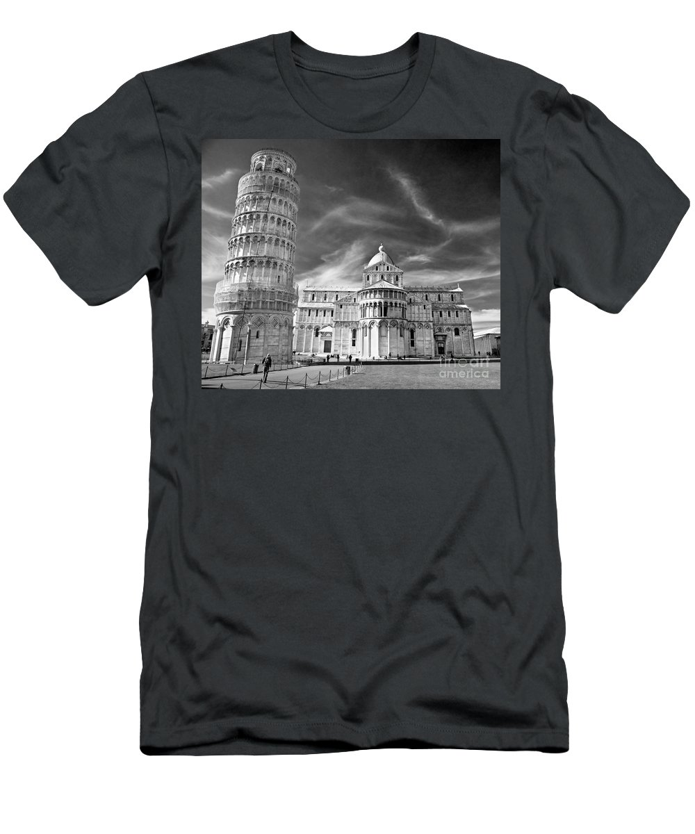 Arch Men's T-Shirt (Athletic Fit) featuring the photograph Pisa - The Leaning Tower by Luciano Mortula
