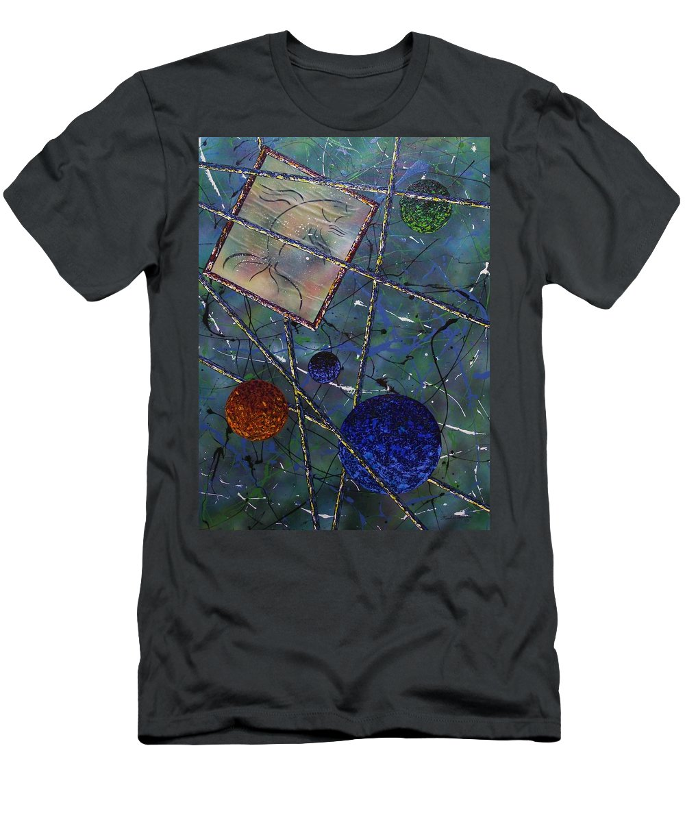 Fish Men's T-Shirt (Athletic Fit) featuring the painting Pisces by Micah Guenther