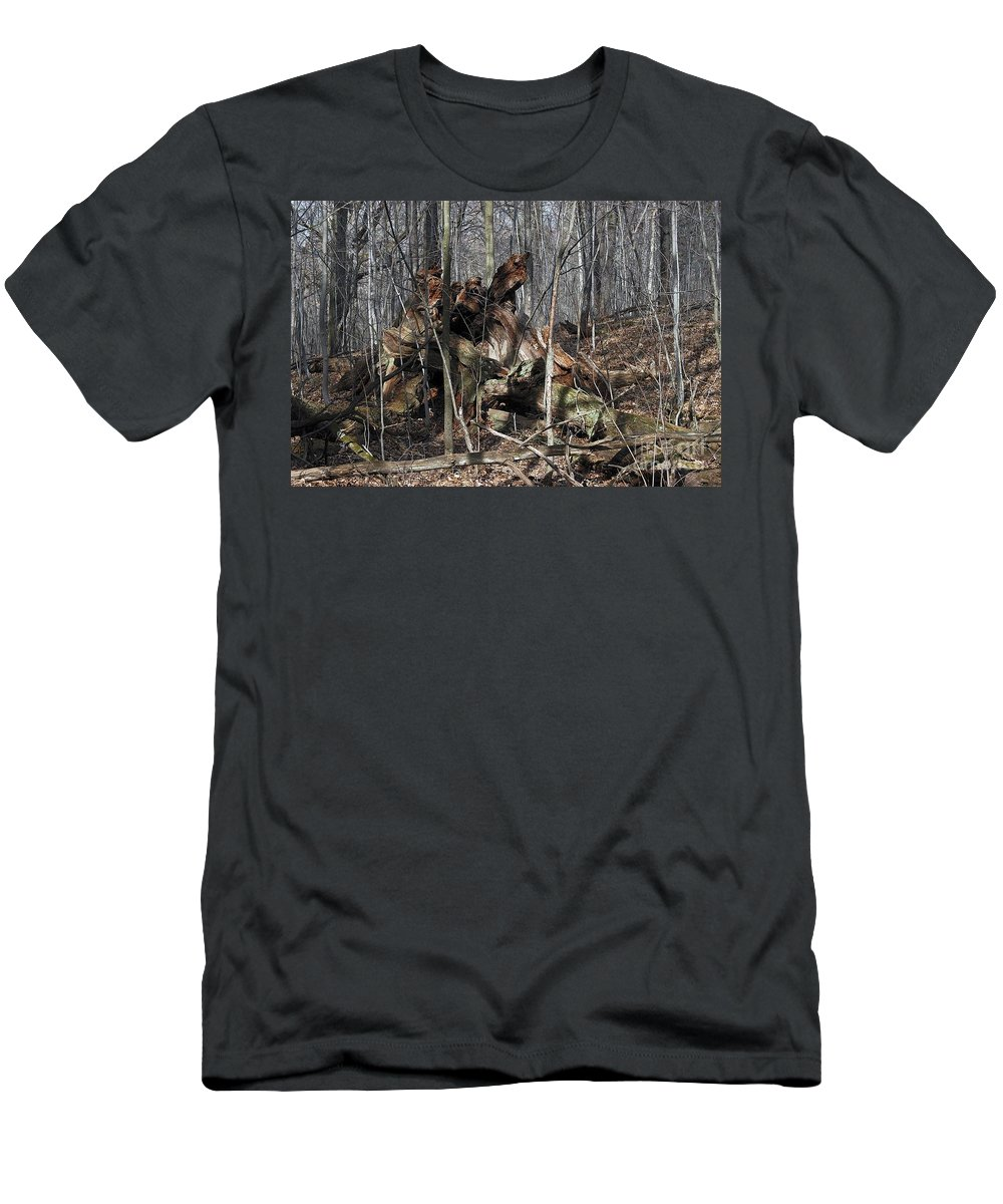 Forest Floor Men's T-Shirt (Athletic Fit) featuring the photograph Sculpture by Joseph Yarbrough
