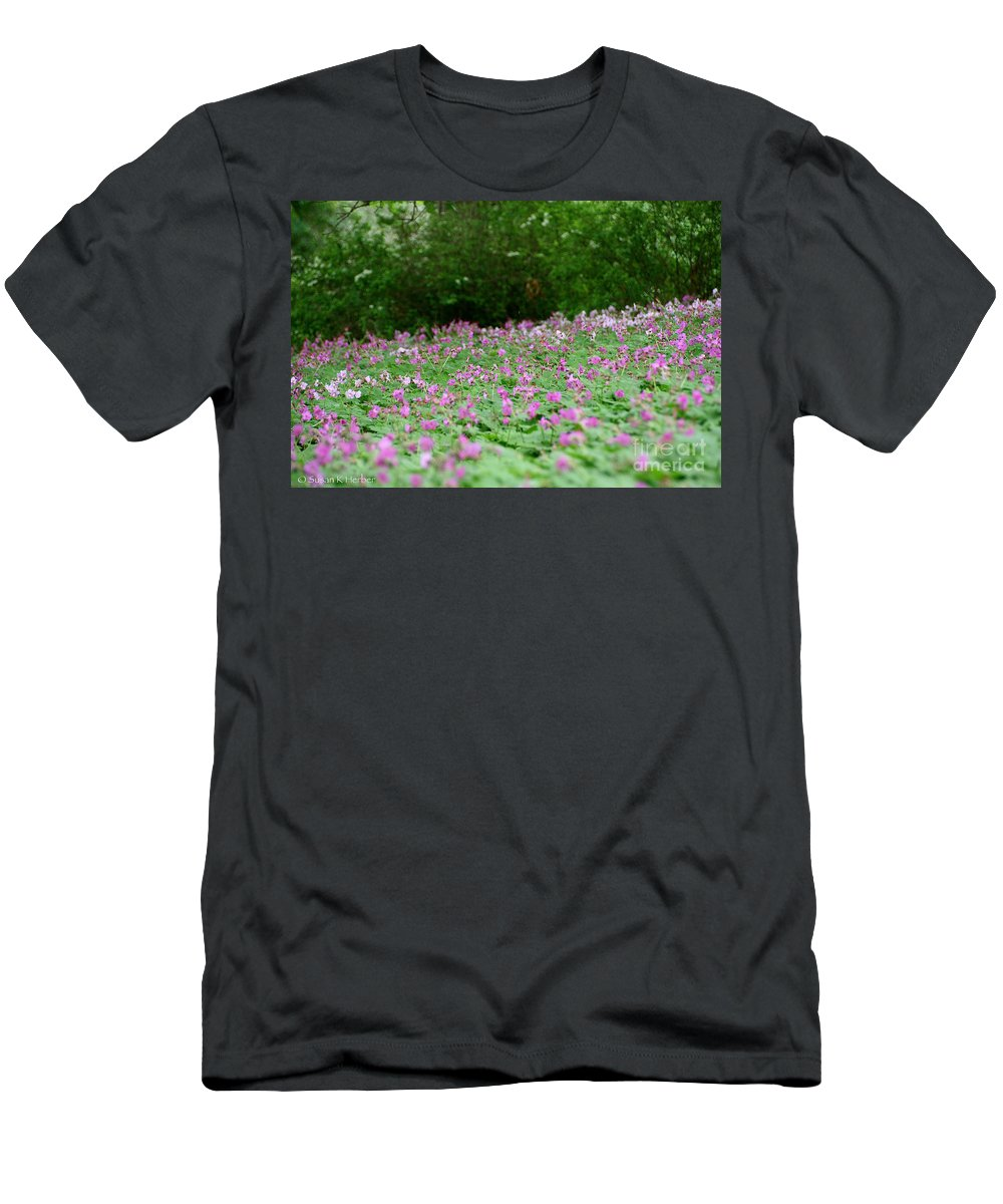 Flower Men's T-Shirt (Athletic Fit) featuring the photograph Spring Meadow by Susan Herber