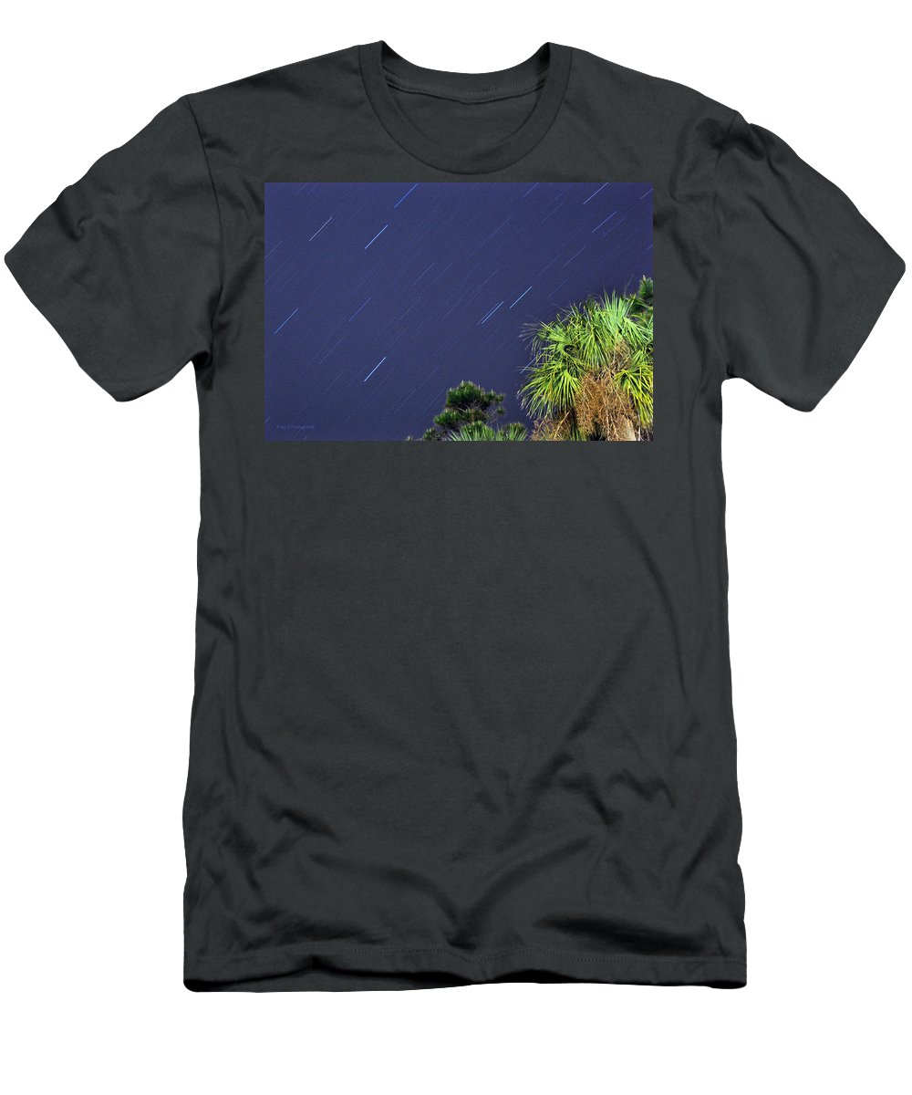 Landscape Men's T-Shirt (Athletic Fit) featuring the photograph Star Trails by Kay Lovingood
