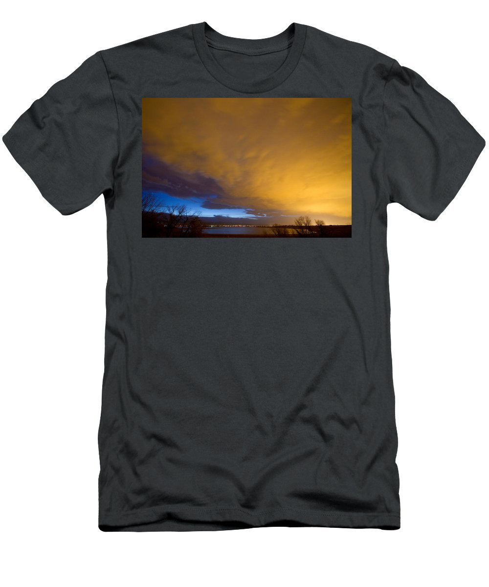 Clouds Men's T-Shirt (Athletic Fit) featuring the photograph Storm Front by James BO Insogna