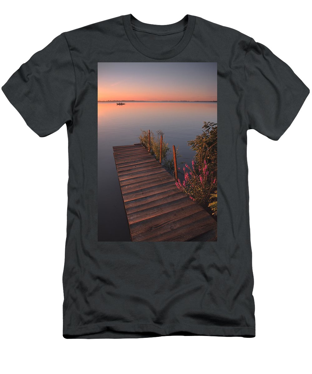 Landscape Men's T-Shirt (Athletic Fit) featuring the photograph Summer Morning by Davorin Mance