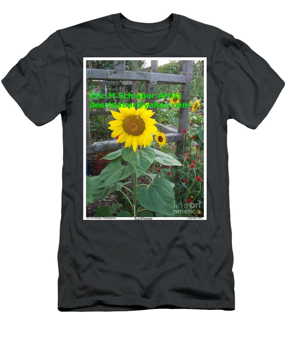 Sunflower Men's T-Shirt (Athletic Fit) featuring the photograph Sunflower by Eric Schiabor