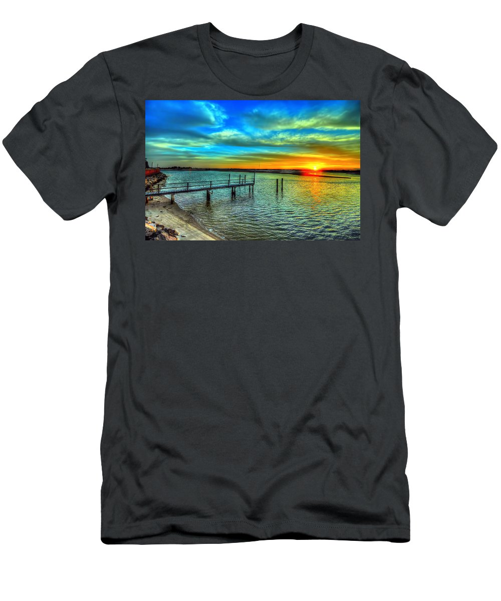 Sunset Men's T-Shirt (Athletic Fit) featuring the photograph Sunset At The Cape by Tina Baxter