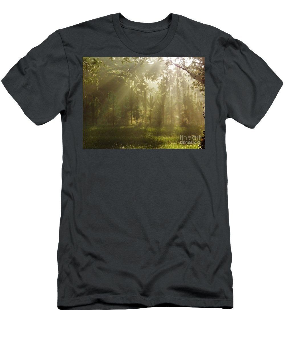 Sunshine Men's T-Shirt (Athletic Fit) featuring the photograph Sunshine Morning by D Hackett