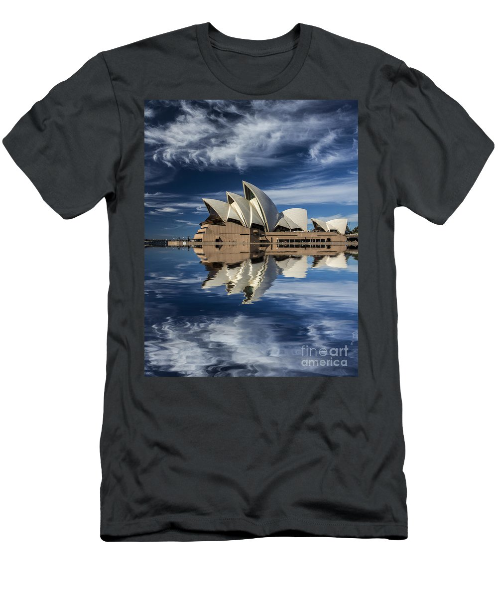 Sydney Opera House T-Shirt featuring the photograph Sydney Opera House reflection by Sheila Smart Fine Art Photography