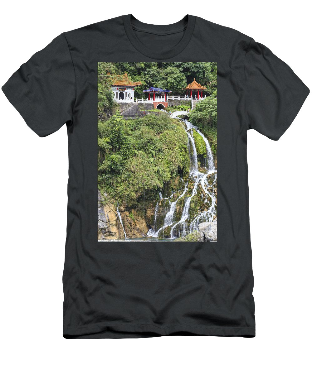 2014 Men's T-Shirt (Athletic Fit) featuring the photograph Temple Of Eternal Spring by Jannis Werner