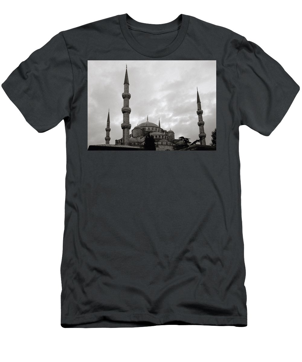 Blue Mosque Men's T-Shirt (Athletic Fit) featuring the photograph The Blue Mosque by Shaun Higson