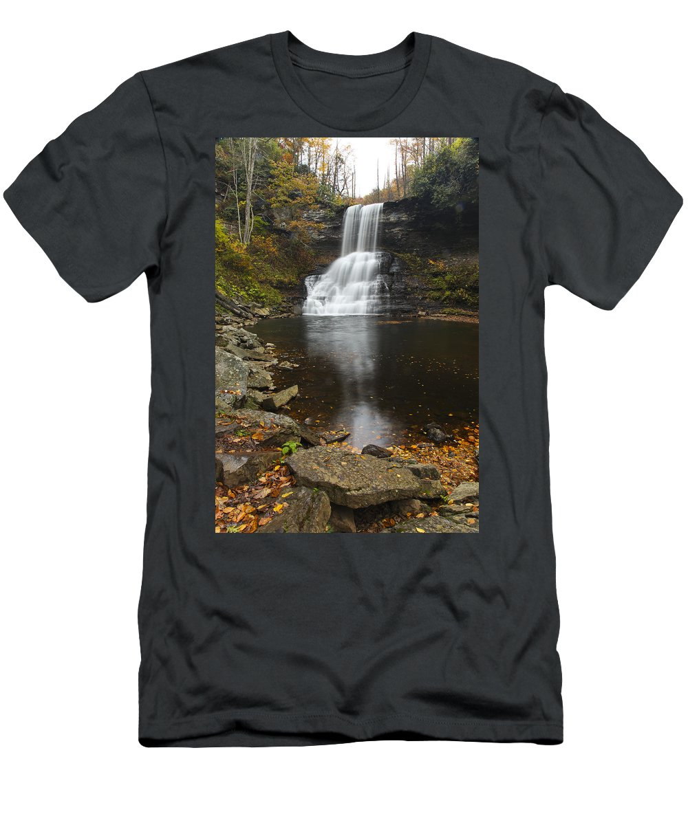 Waterfall Men's T-Shirt (Athletic Fit) featuring the photograph The Cascades by Amy Jackson