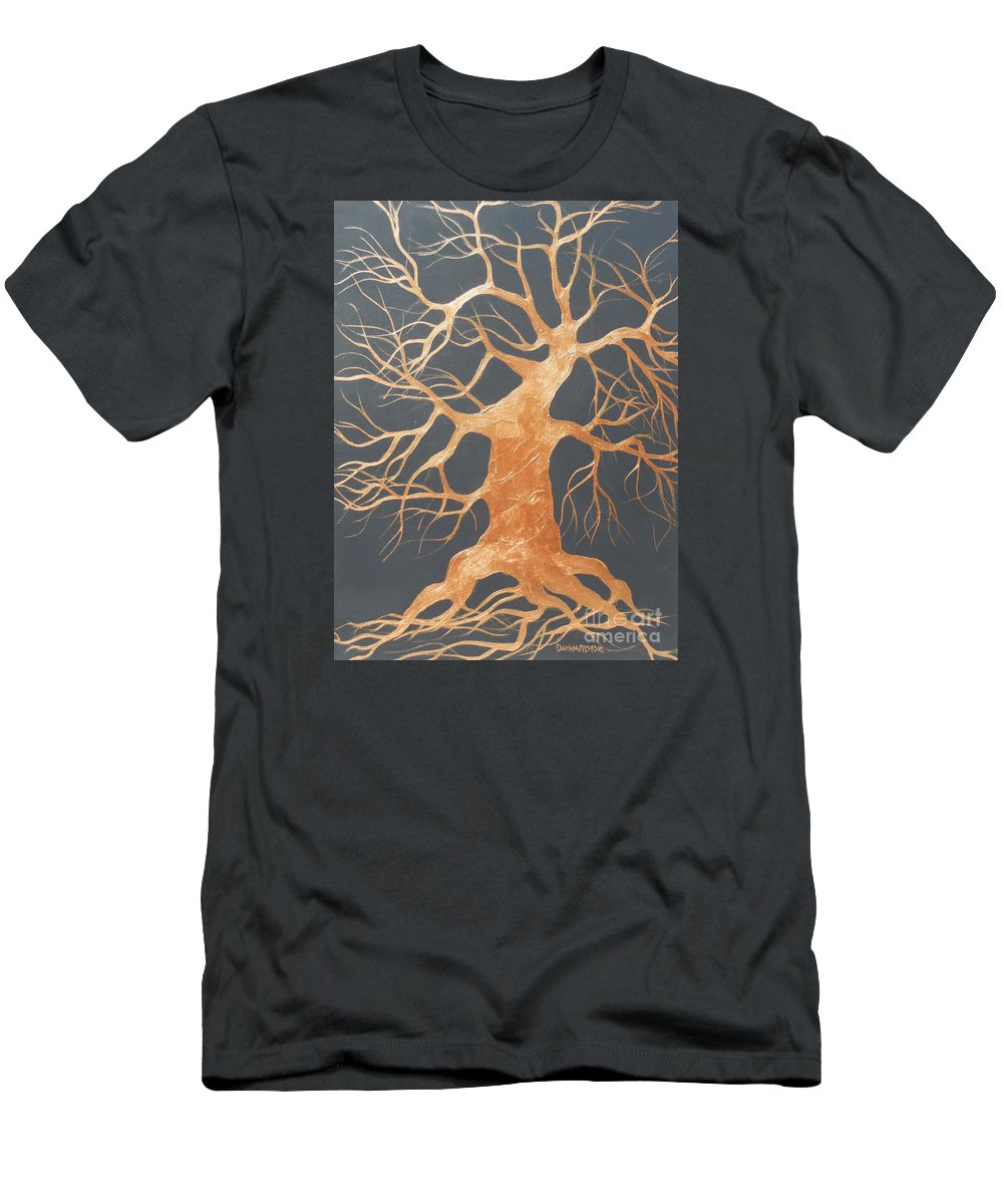 Tree Men's T-Shirt (Athletic Fit) featuring the painting The Dance by Dan Whittemore