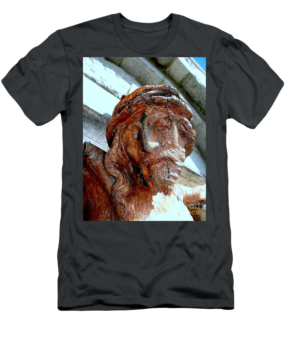 Jesus Christ Men's T-Shirt (Athletic Fit) featuring the photograph The Face Of Christ by Ed Weidman
