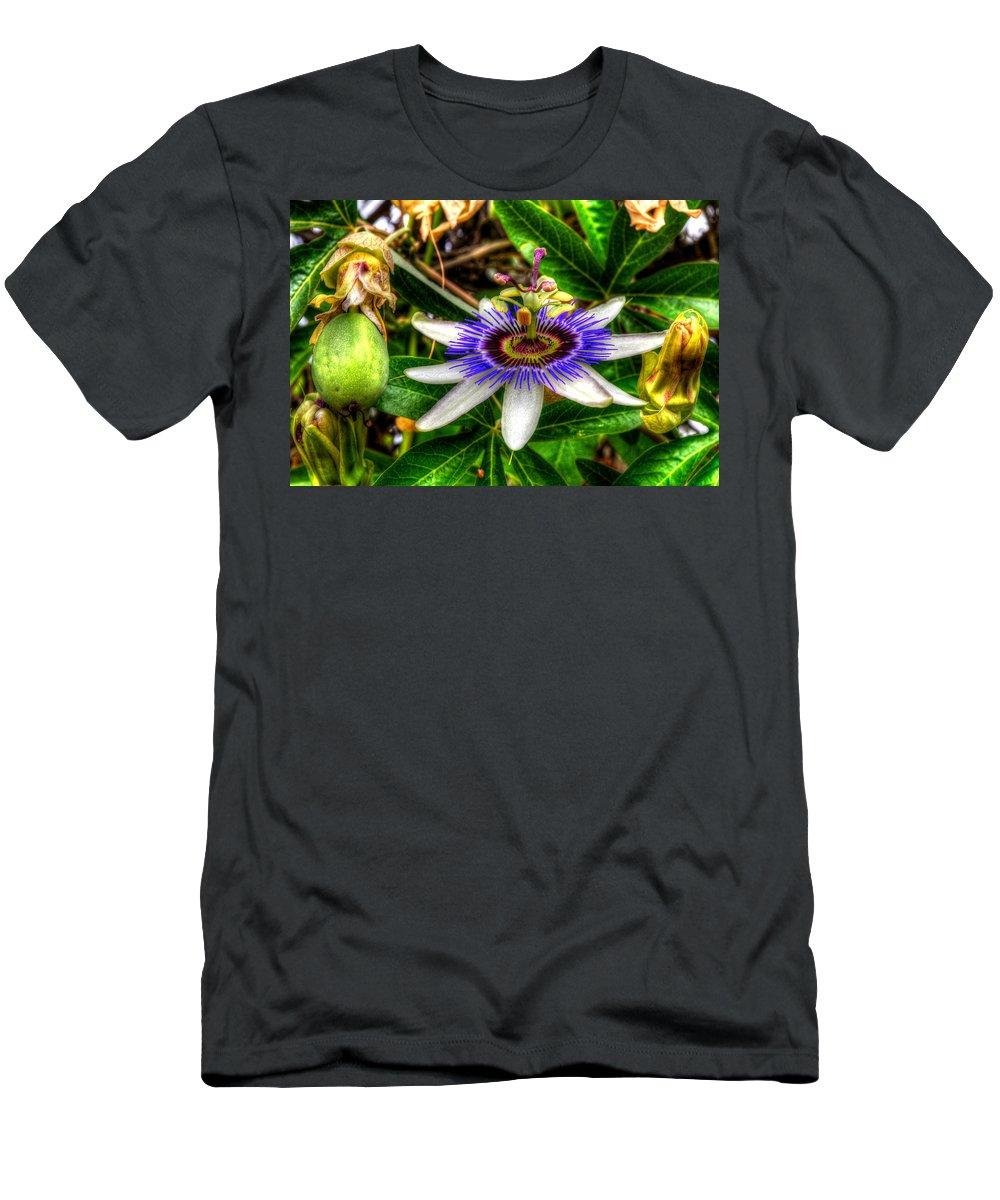 Rose Bowl Men's T-Shirt (Athletic Fit) featuring the photograph The Flower 14 by Richard J Cassato