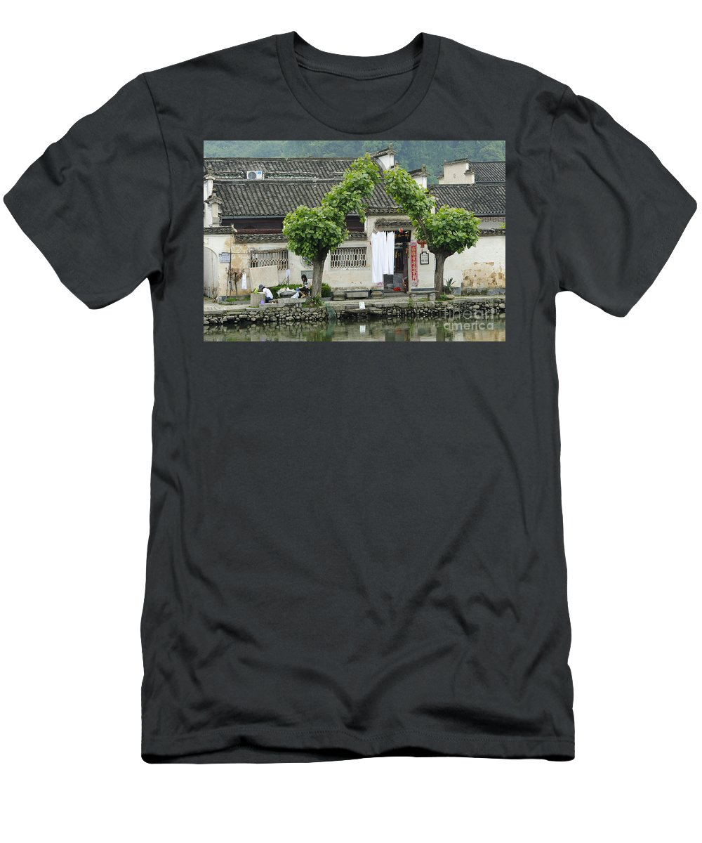 Asia Men's T-Shirt (Athletic Fit) featuring the photograph The South Lake In Hongcun Village by John Shaw
