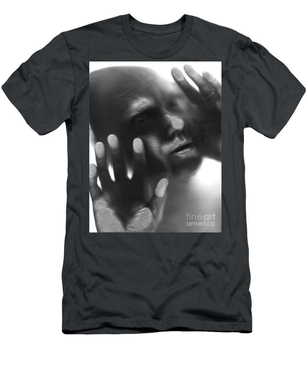Alien Men's T-Shirt (Athletic Fit) featuring the photograph The Visitor by Bruce Stanfield