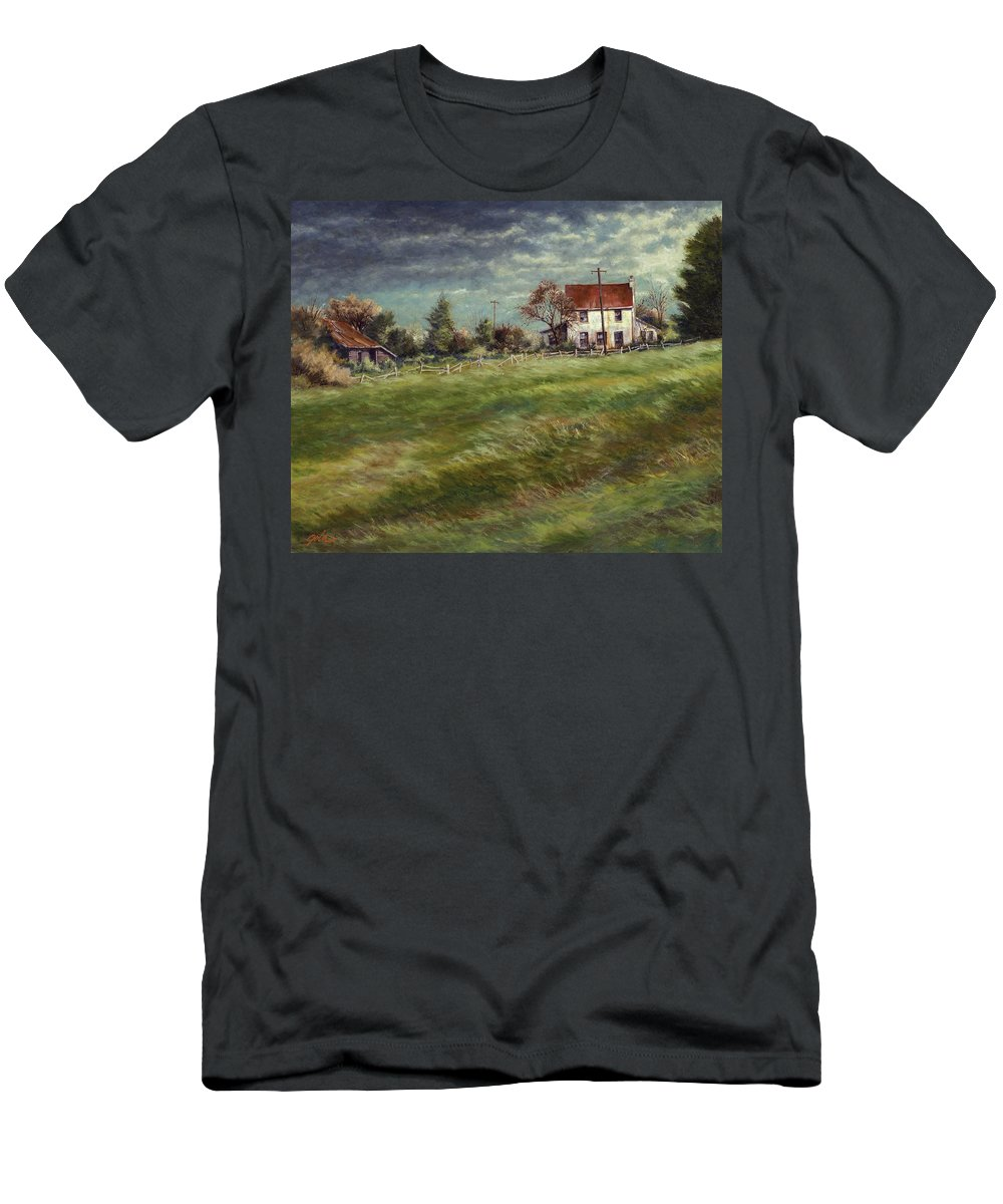 Painting Men's T-Shirt (Athletic Fit) featuring the painting The White House by Jim Gola