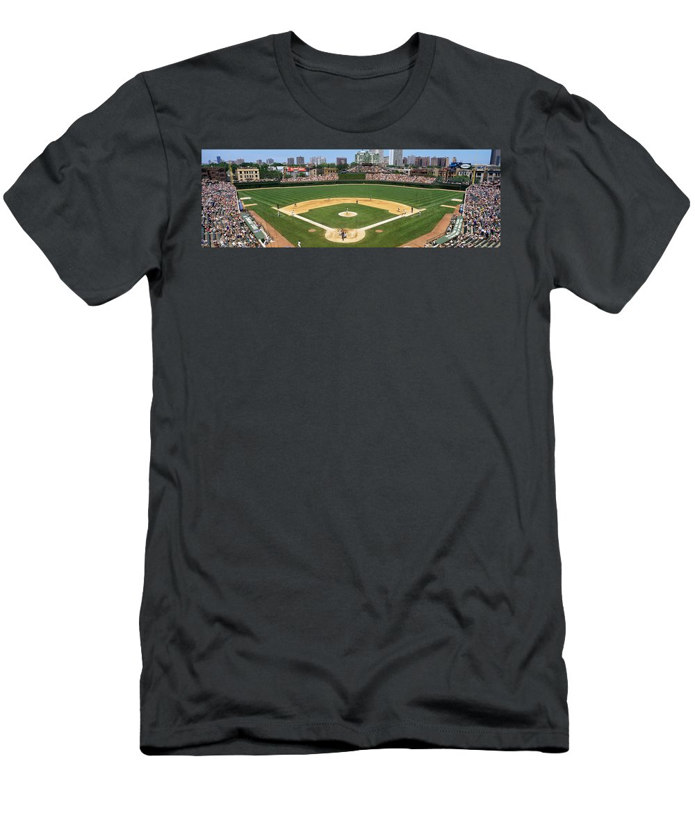 Photography Men's T-Shirt (Athletic Fit) featuring the photograph Usa, Illinois, Chicago, Cubs, Baseball by Panoramic Images