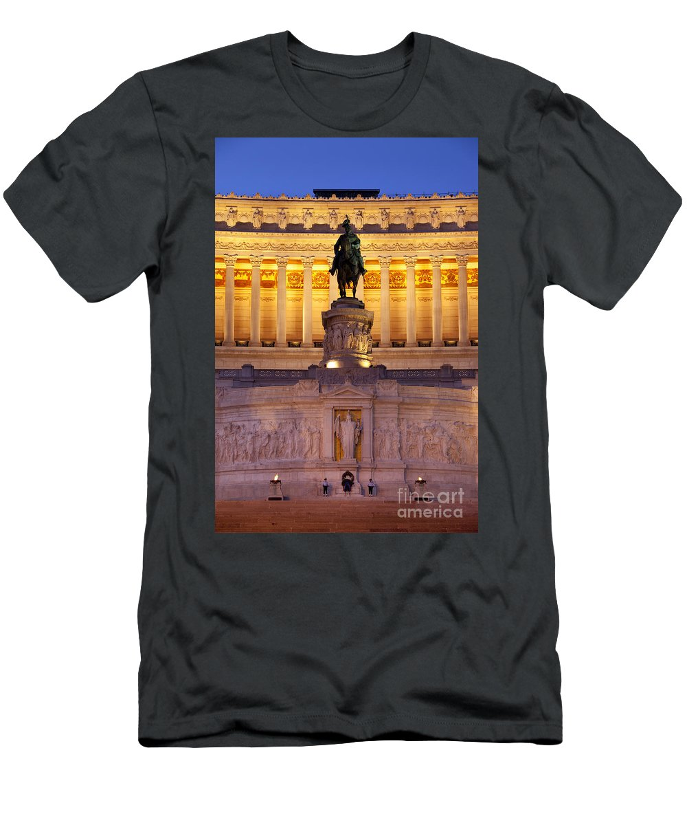 Vittorio Emanuele Men's T-Shirt (Athletic Fit) featuring the photograph Vittorio Emanuele - Rome by Brian Jannsen