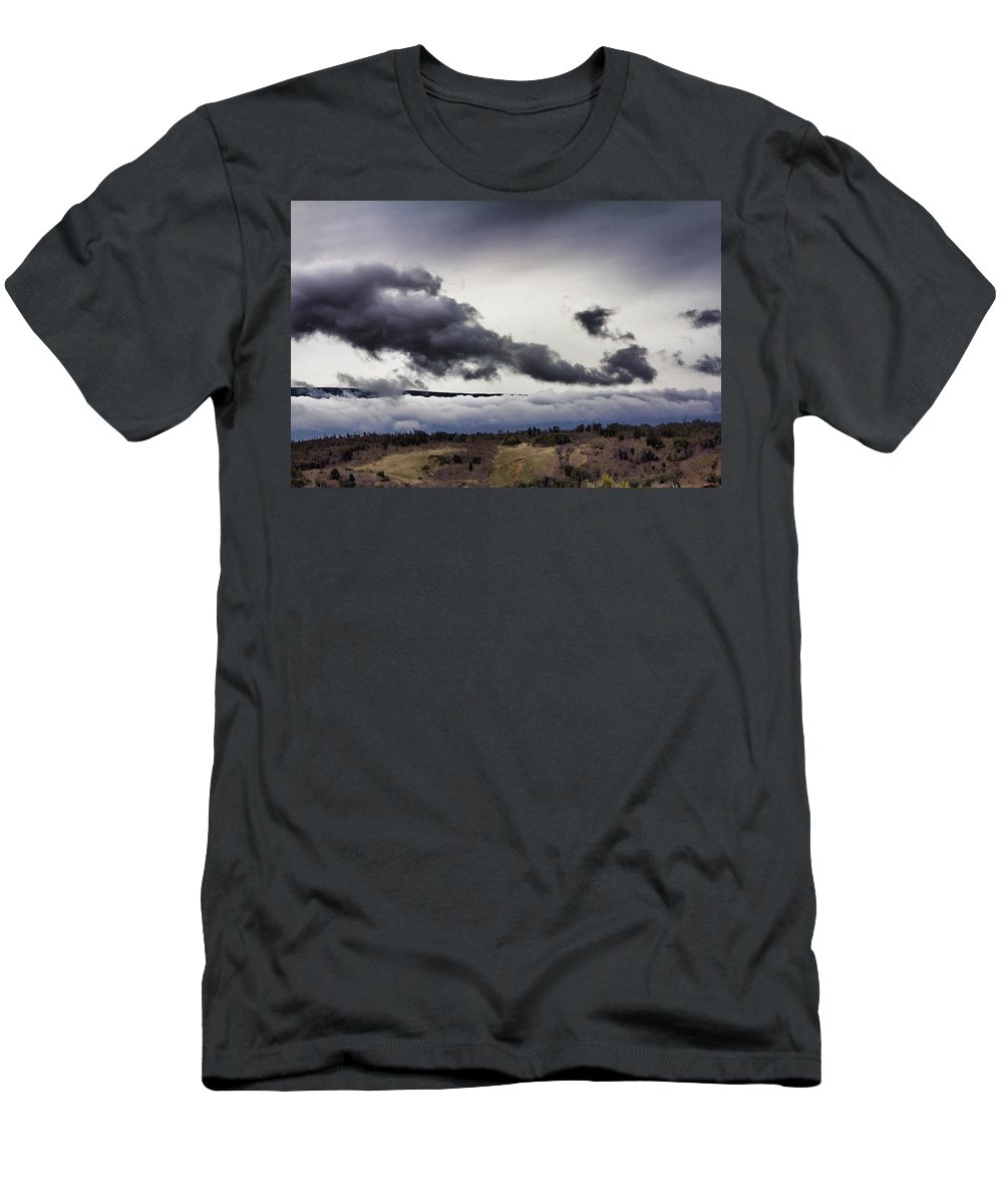 Volcano Men's T-Shirt (Athletic Fit) featuring the photograph Volcano Vog Big Island Hawaii V2 by Douglas Barnard