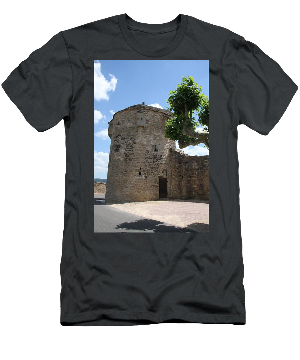 Watch Tower T-Shirt featuring the photograph Watch Tower In Cluny by Christiane Schulze Art And Photography