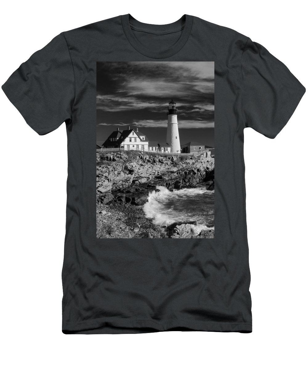 Atlantic Ocean Men's T-Shirt (Athletic Fit) featuring the photograph Waves Crashing by Guy Whiteley