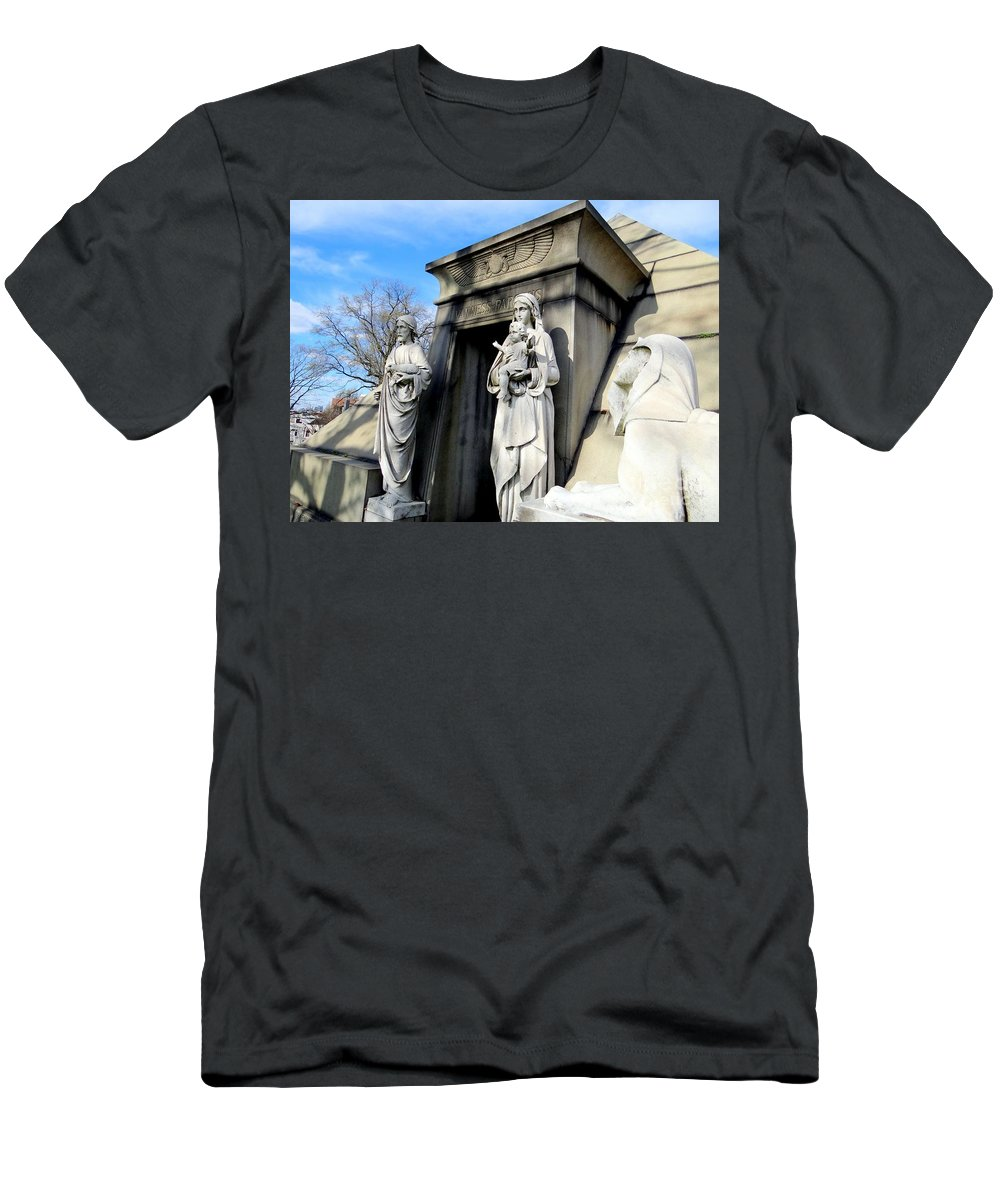 Mausoleum Men's T-Shirt (Athletic Fit) featuring the photograph Welcome by Ed Weidman