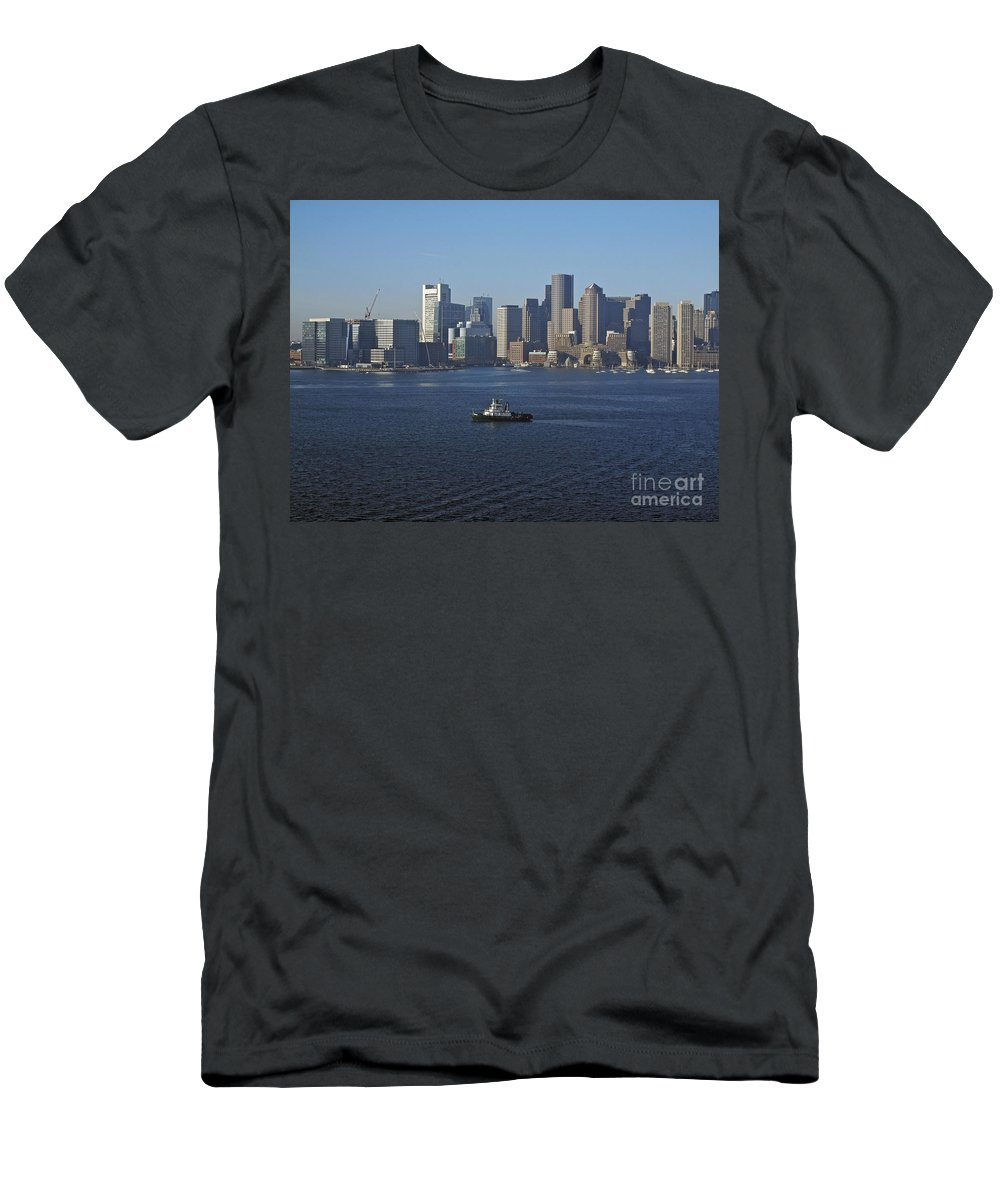 America Men's T-Shirt (Athletic Fit) featuring the photograph Boston Harbor by Howard Stapleton