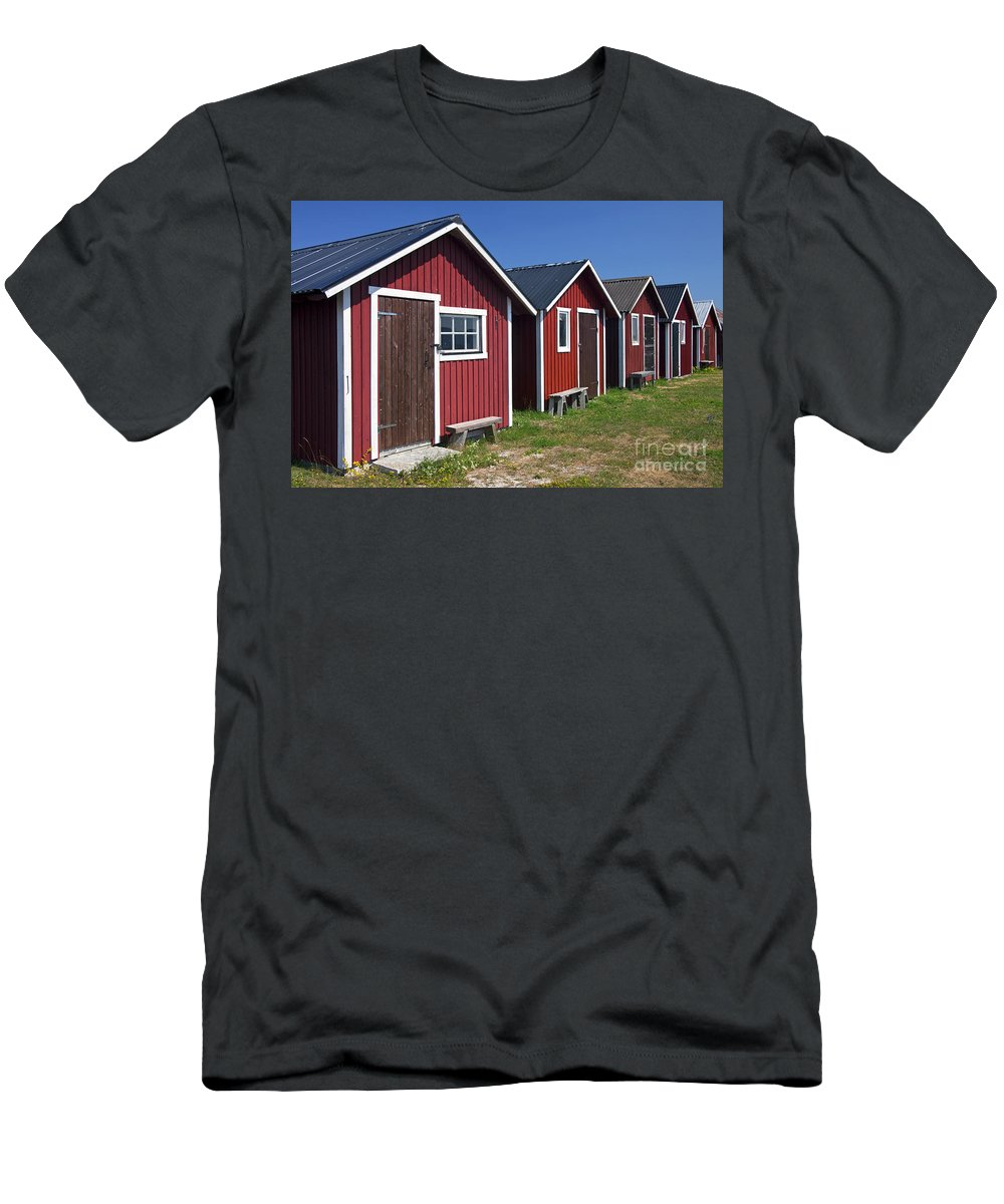 Fishing Hut Men's T-Shirt (Athletic Fit) featuring the photograph 101130p084 by Arterra Picture Library