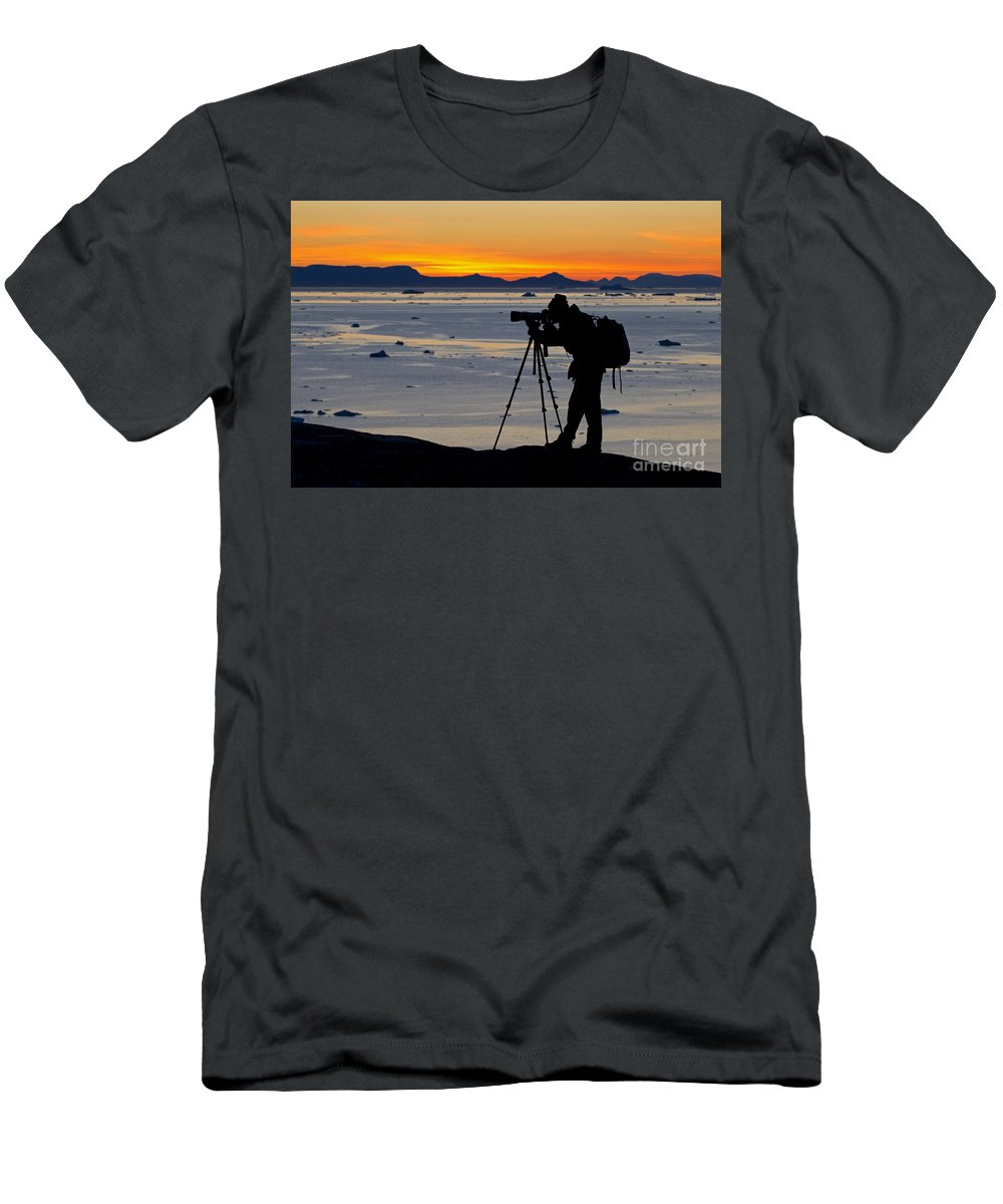Iceberg Men's T-Shirt (Athletic Fit) featuring the photograph 101130p110 by Arterra Picture Library