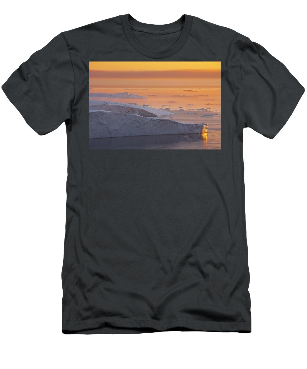 Iceberg Men's T-Shirt (Athletic Fit) featuring the photograph 101130p124 by Arterra Picture Library
