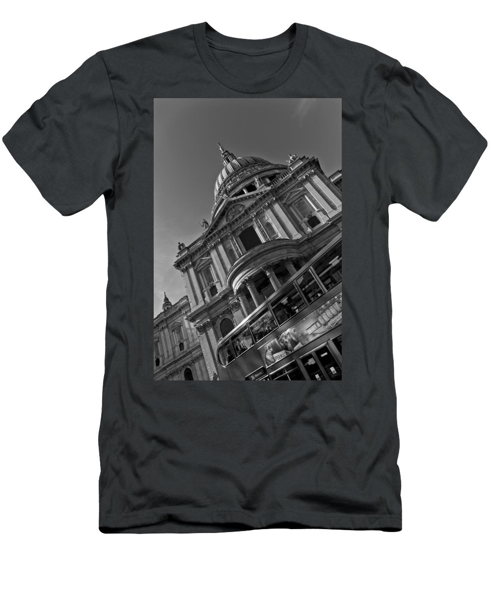 St Paul's Men's T-Shirt (Athletic Fit) featuring the photograph St Paul's Cathedral London by David Pyatt