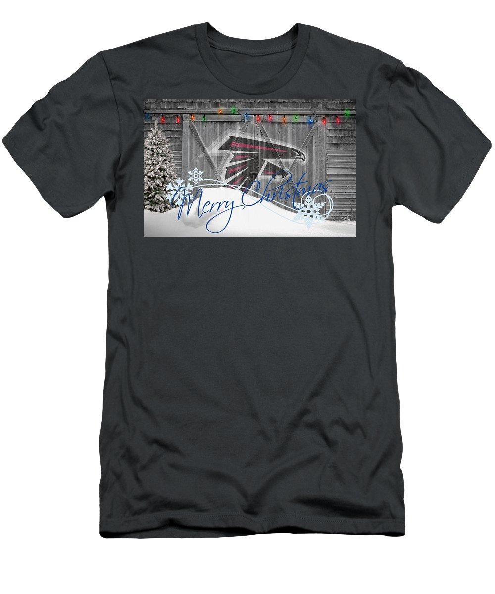 Falcons Men's T-Shirt (Athletic Fit) featuring the photograph Atlanta Falcons by Joe Hamilton