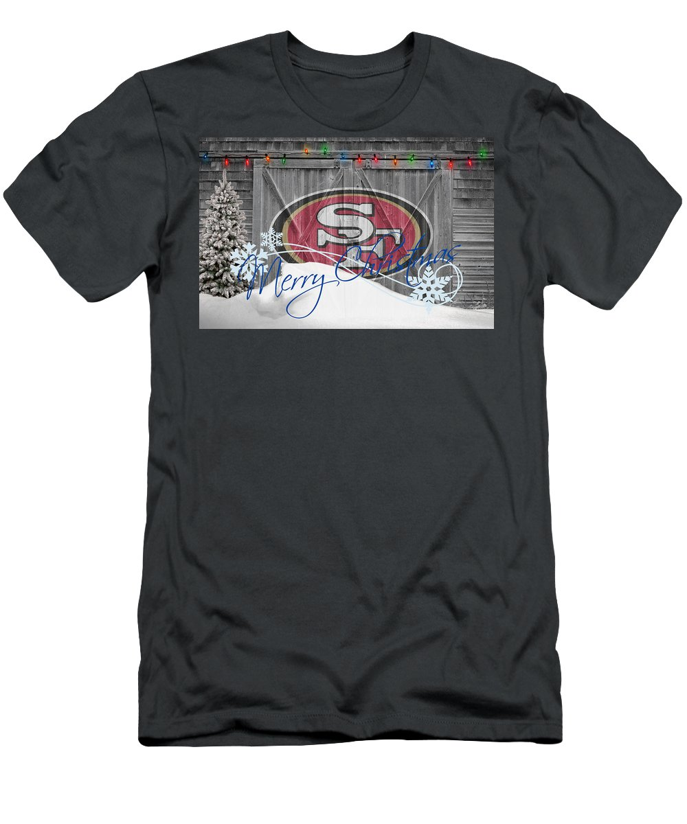49ers Men's T-Shirt (Athletic Fit) featuring the photograph San Francisco 49ers by Joe Hamilton