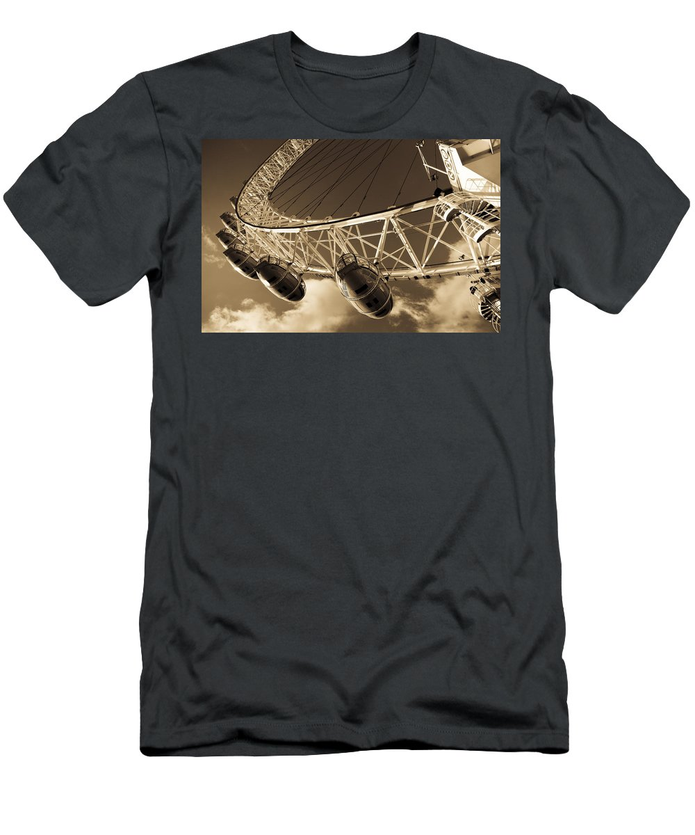 London Eye Men's T-Shirt (Athletic Fit) featuring the photograph The London Eye by David Pyatt