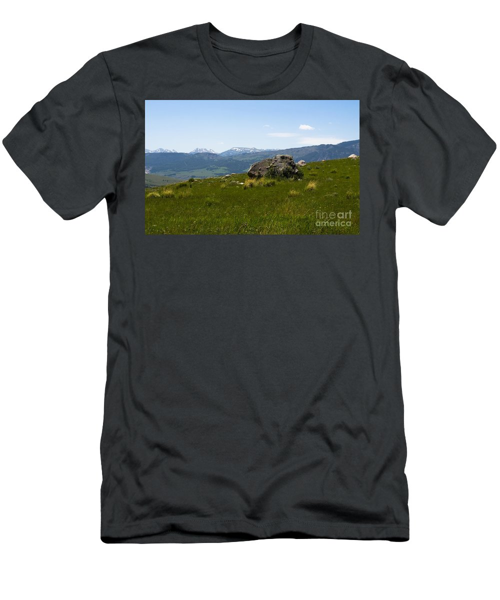 Montana Men's T-Shirt (Athletic Fit) featuring the photograph Gods Country by Tara Lynn