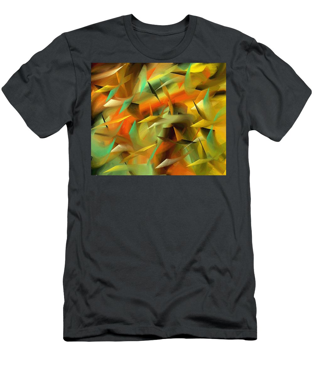 Abstract Men's T-Shirt (Athletic Fit) featuring the painting 189a by Ely Arsha