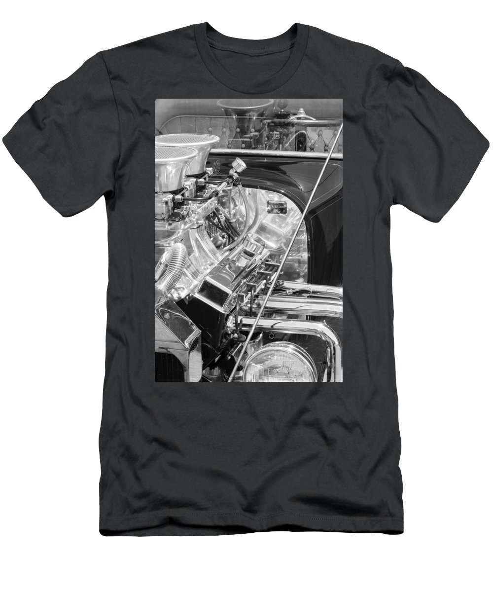1923 Ford T-bucket Engine Men's T-Shirt (Athletic Fit) featuring the photograph 1923 Ford T-bucket Engine 2 by Jill Reger