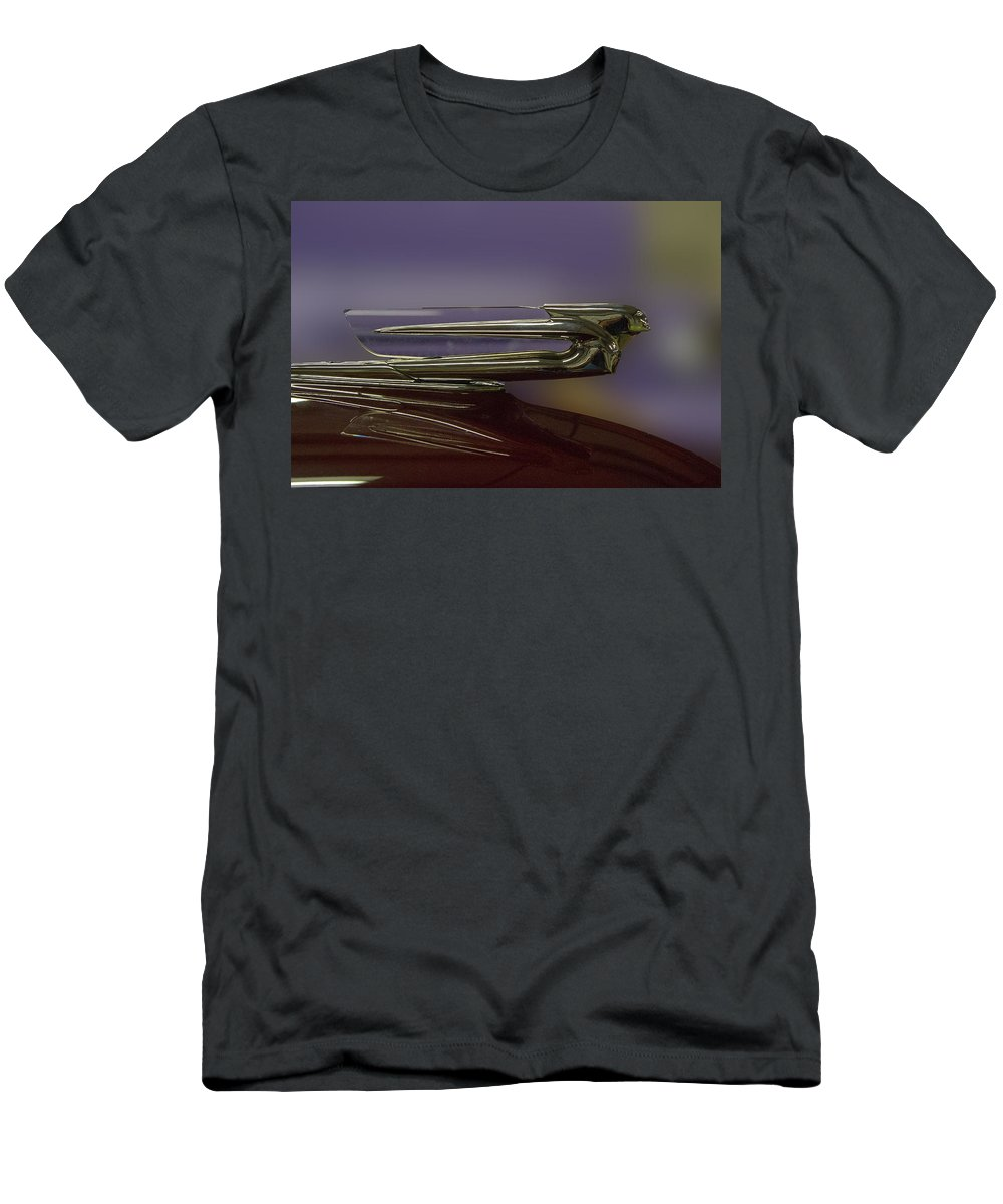 Auto Men's T-Shirt (Athletic Fit) featuring the photograph 1939 Cadillac Hood Ornament by Nick Gray